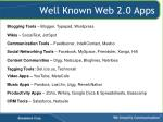 well known web 2 0 apps