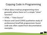 copying code in programming