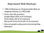 map based web mashups