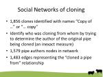 social networks of cloning