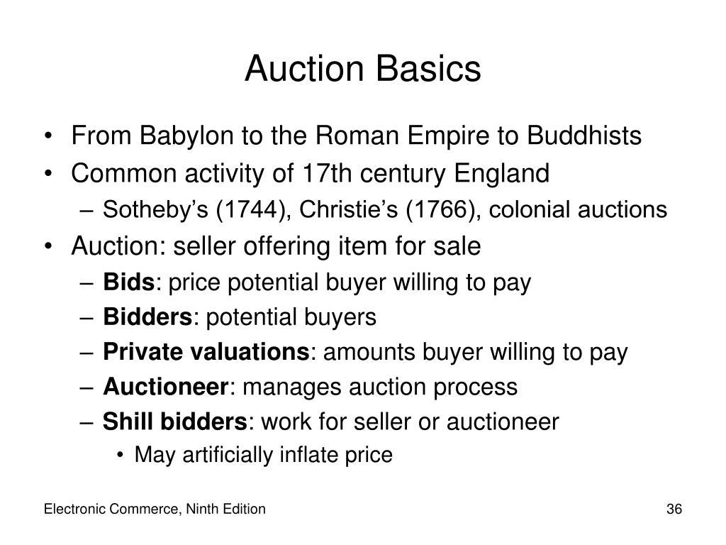 Auction Basics