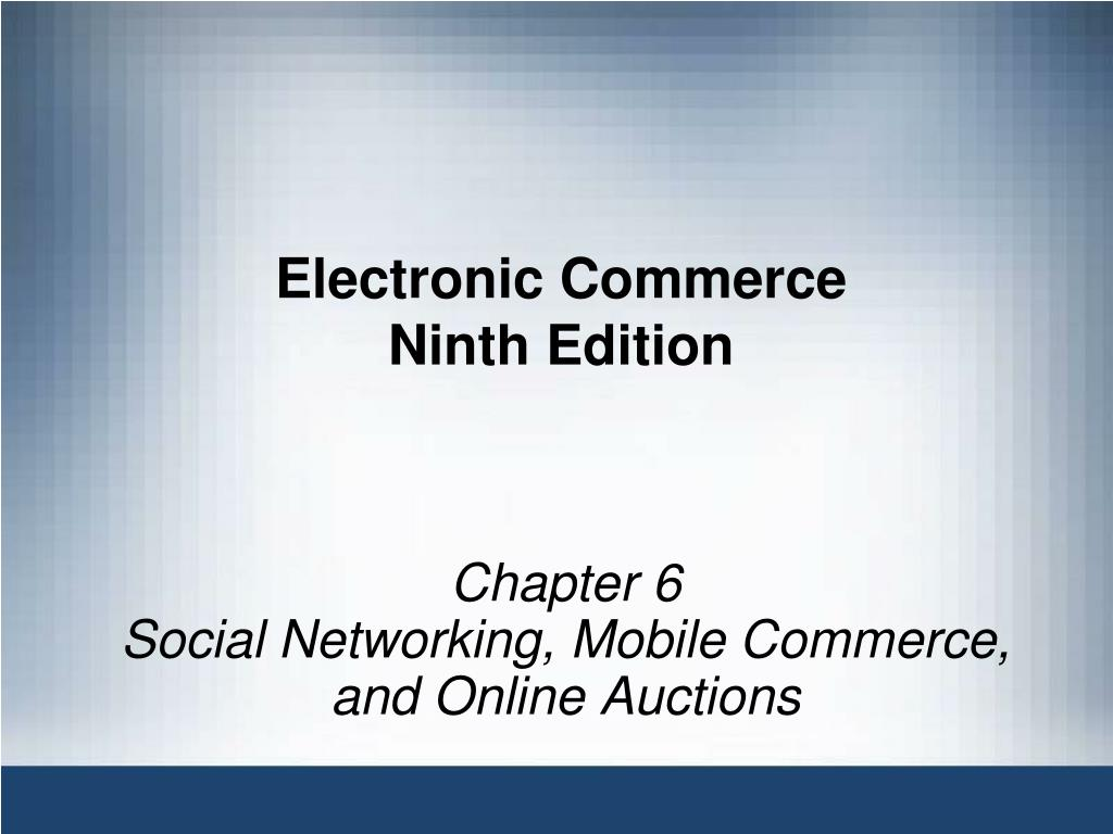 electronic commerce ninth edition l.