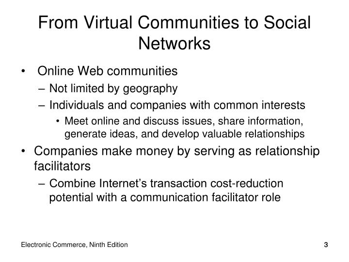 From virtual communities to social networks
