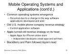 mobile operating systems and applications cont d33