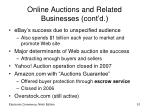 online auctions and related businesses cont d51