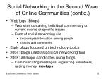 social networking in the second wave of online communities cont d12