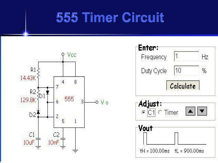 Summary -> 555 Timer Frequency And Duty Cycle Calculator