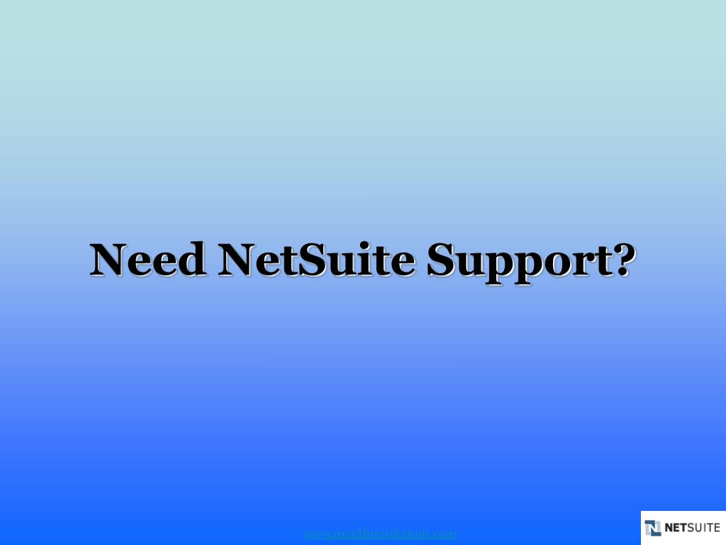 need netsuite support l.
