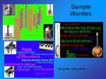 sample wordles15