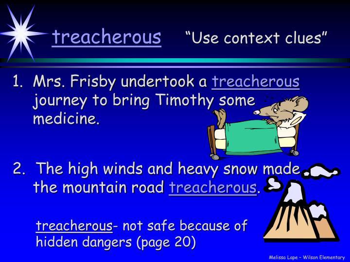 Treacherous use context clues