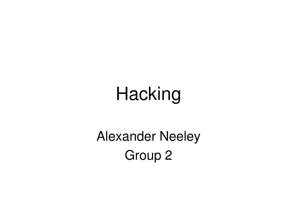 hacking l.