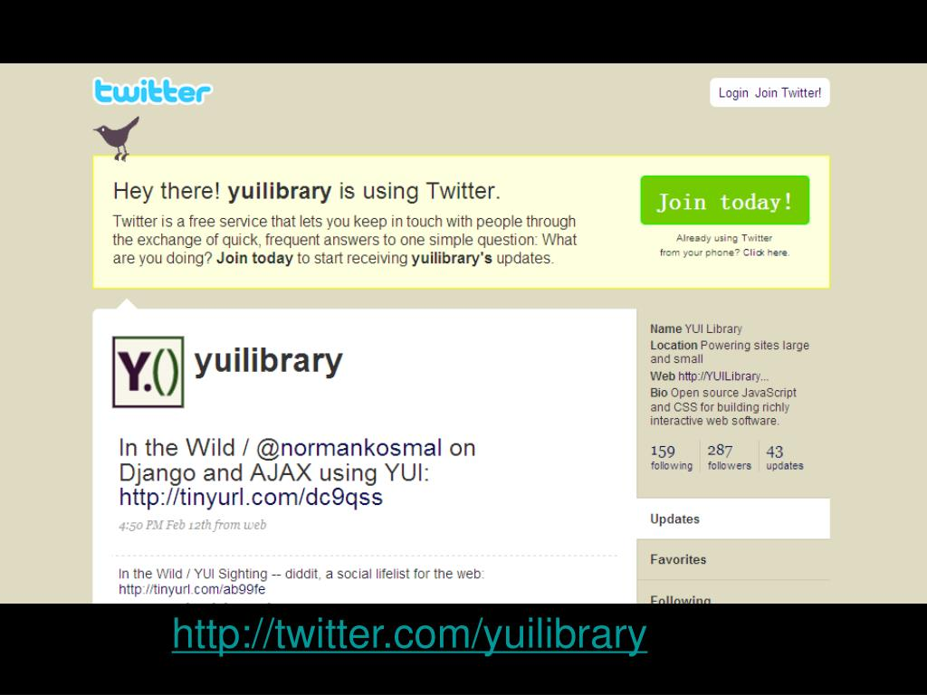 http://twitter.com/yuilibrary