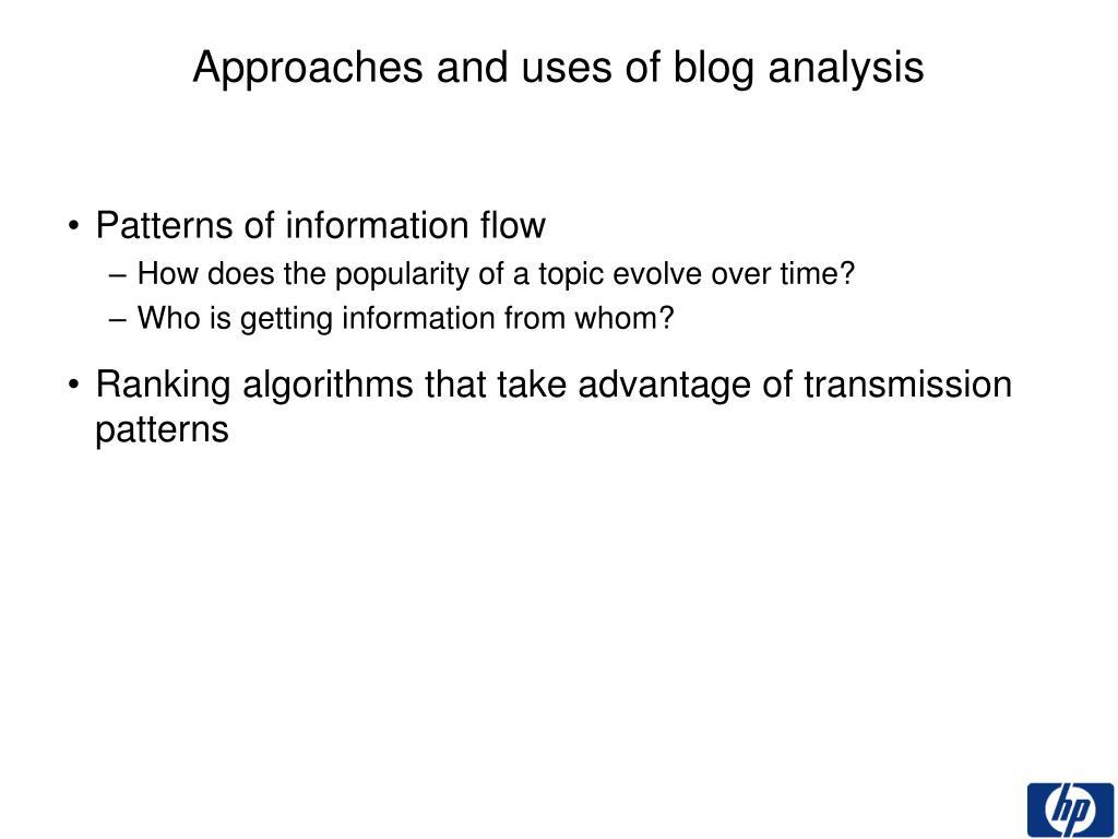 Patterns of information flow
