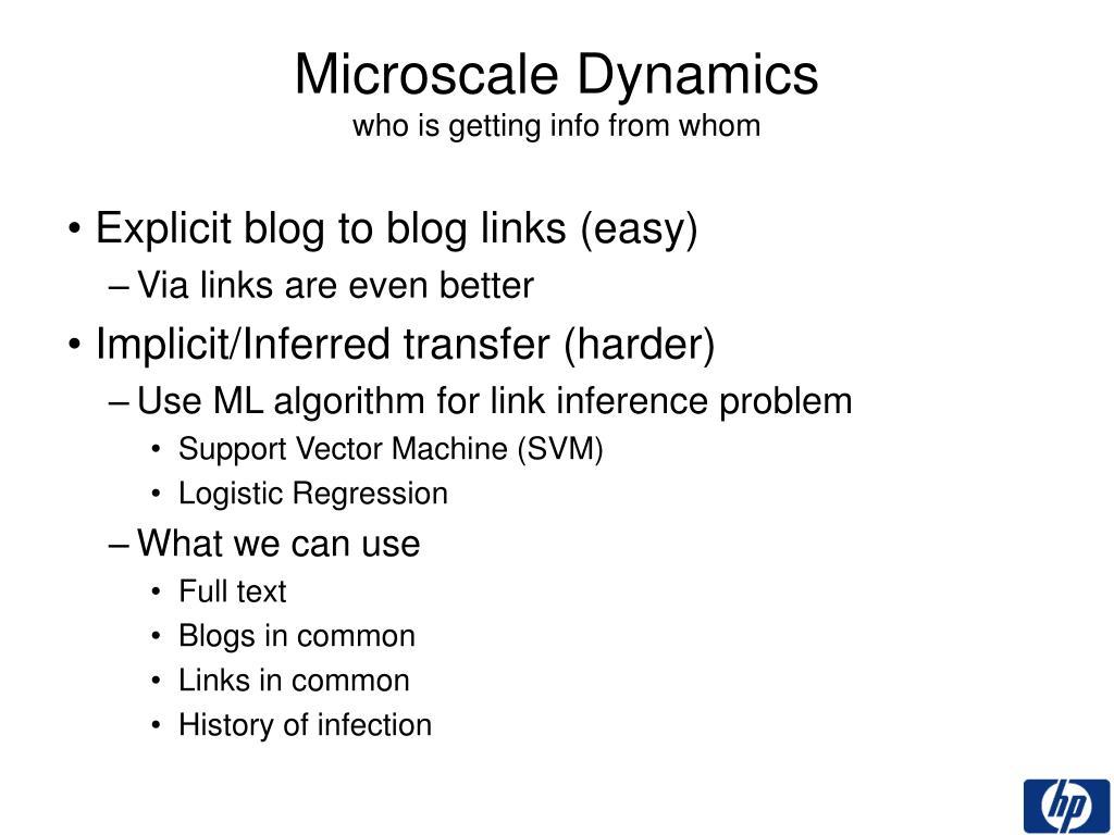 Explicit blog to blog links (easy)