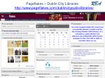 pageflakes dublin city libraries http www pageflakes com dublincitypubliclibraries