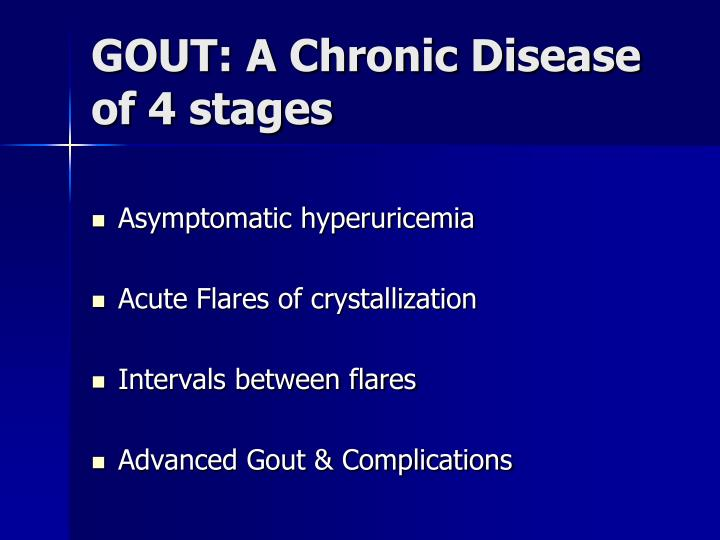 GOUT: A Chronic Disease of 4 stages