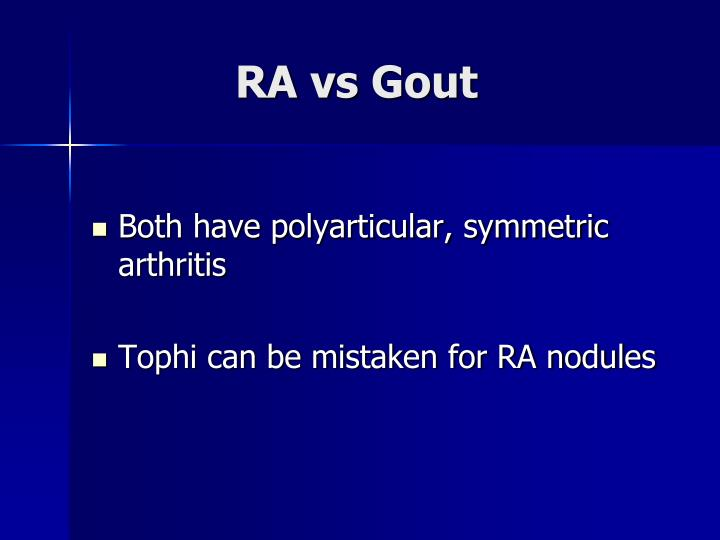 RA vs Gout