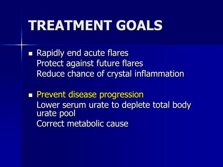 TREATMENT GOALS