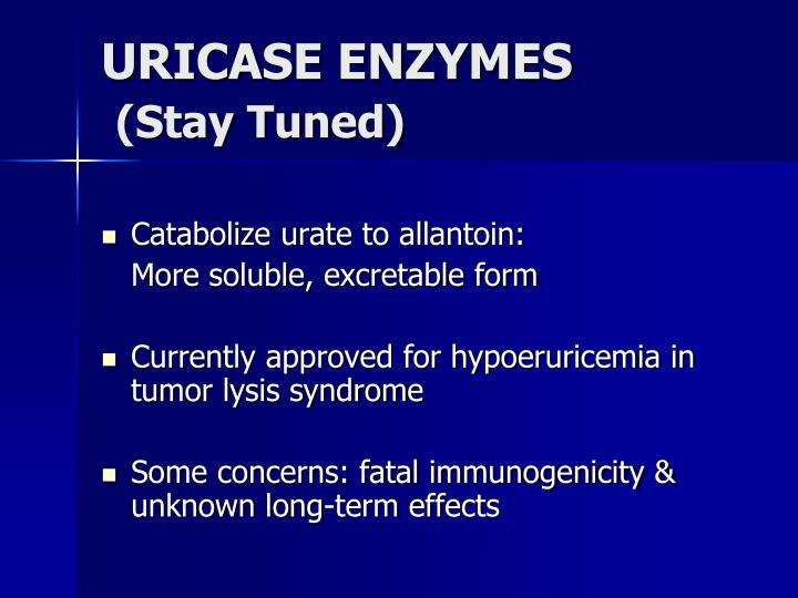 URICASE ENZYMES
