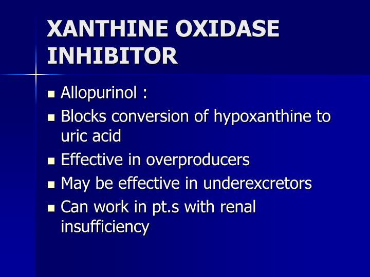 XANTHINE OXIDASE INHIBITOR