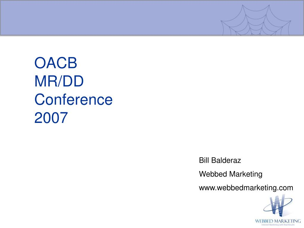 oacb mr dd conference 2007