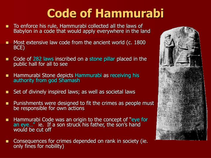 an analysis and an introduction to hammurabis law