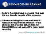 resources increasing24