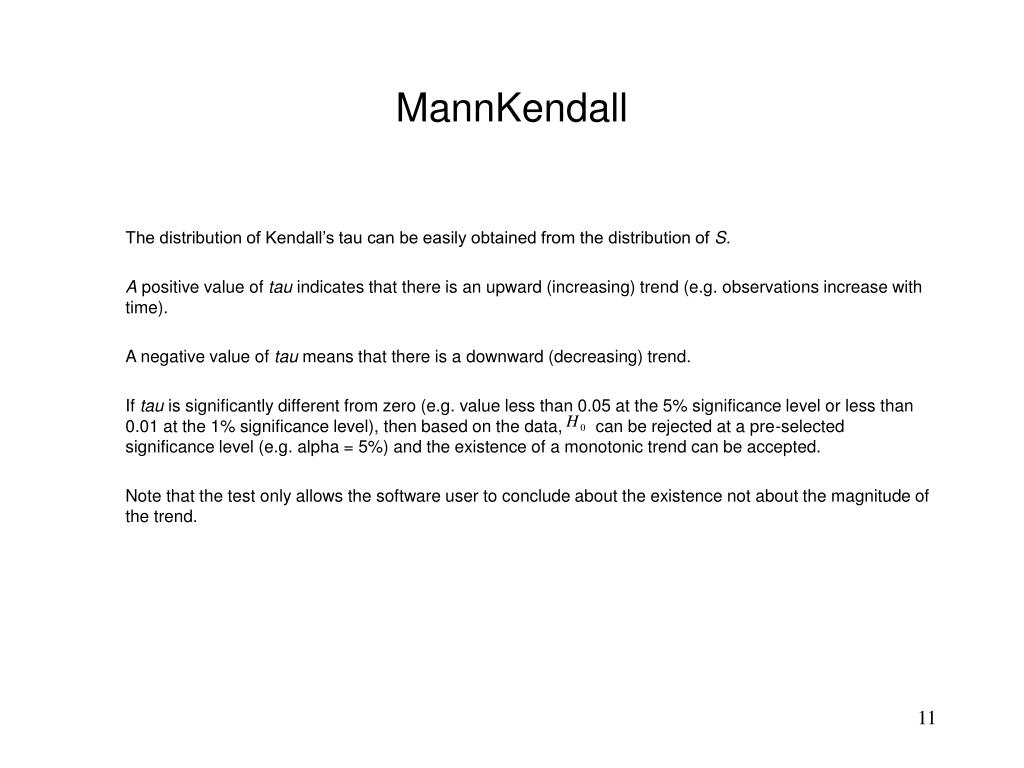 MannKendall
