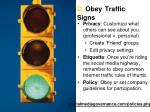 d obey traffic signs