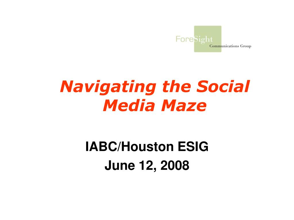 navigating the social media maze l.