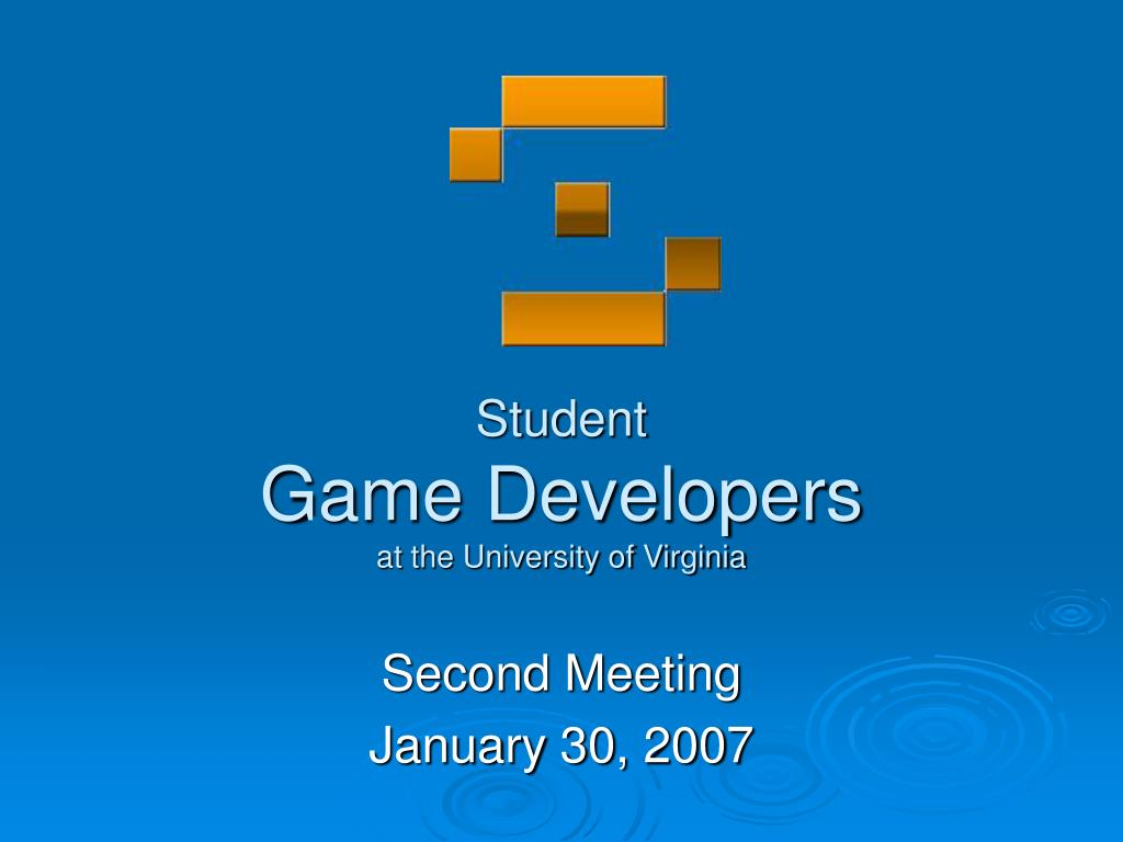 student game developers at the university of virginia l.