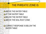 the phreatic zone is