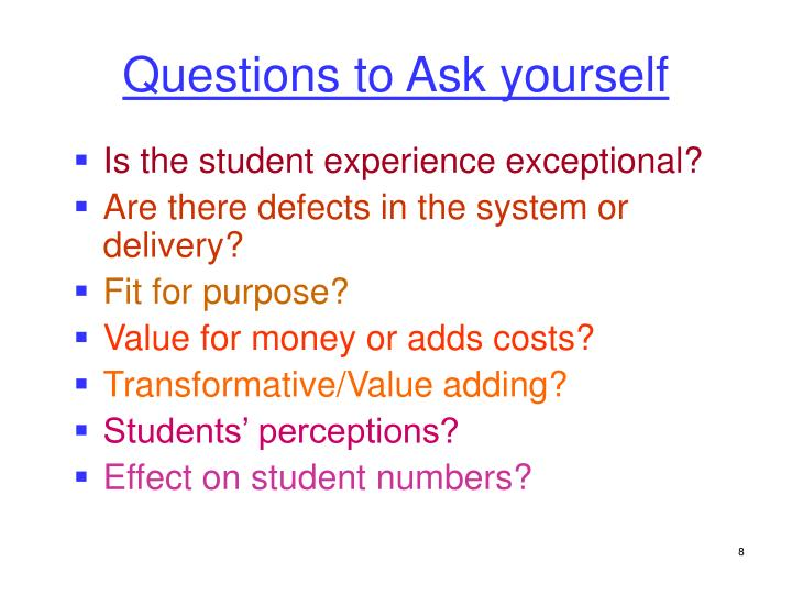 Is the student experience exceptional?