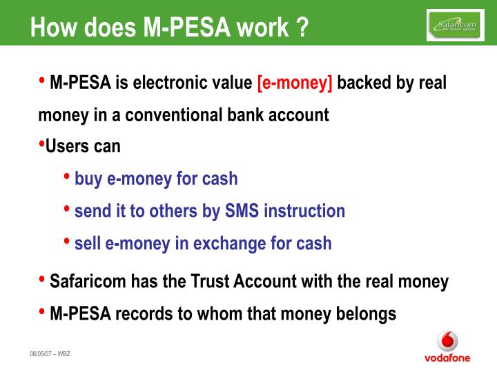 How does M-PESA work ?