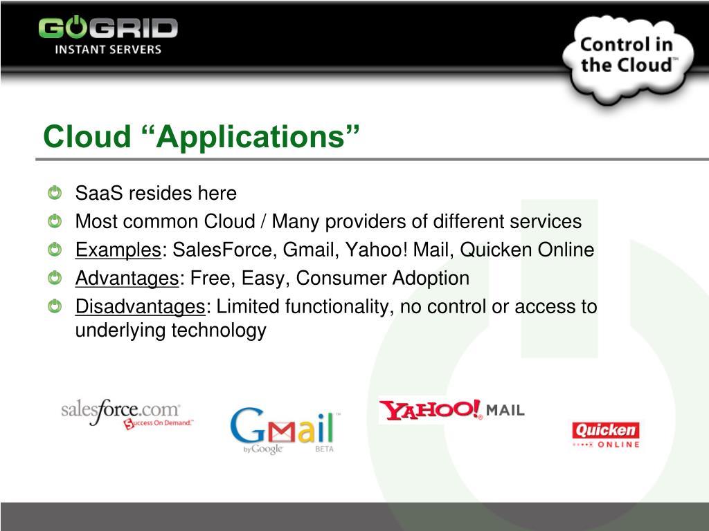 """Cloud """"Applications"""""""