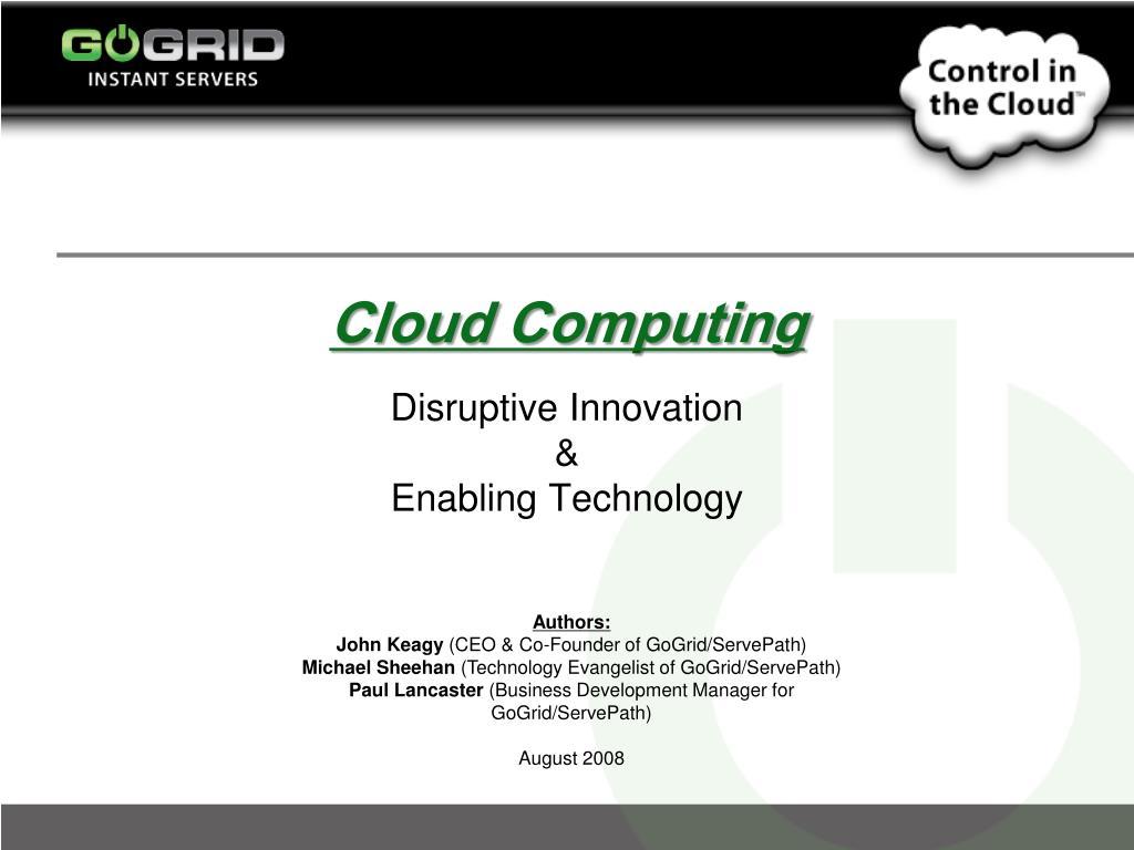 cloud computing l.