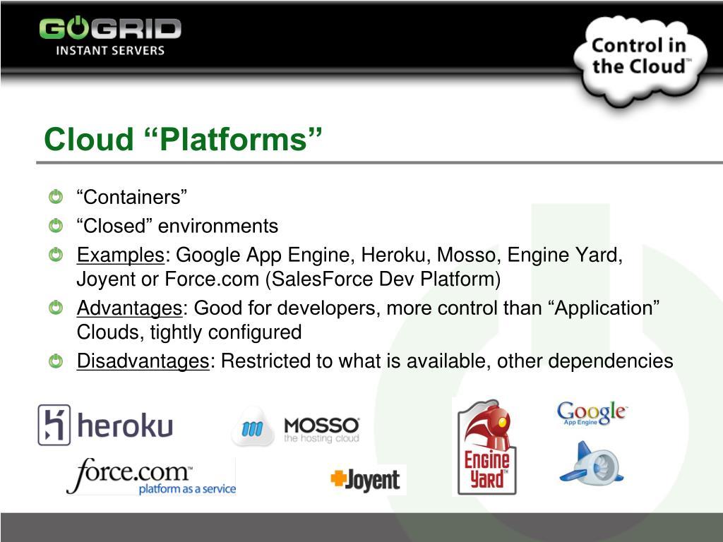 "Cloud ""Platforms"""