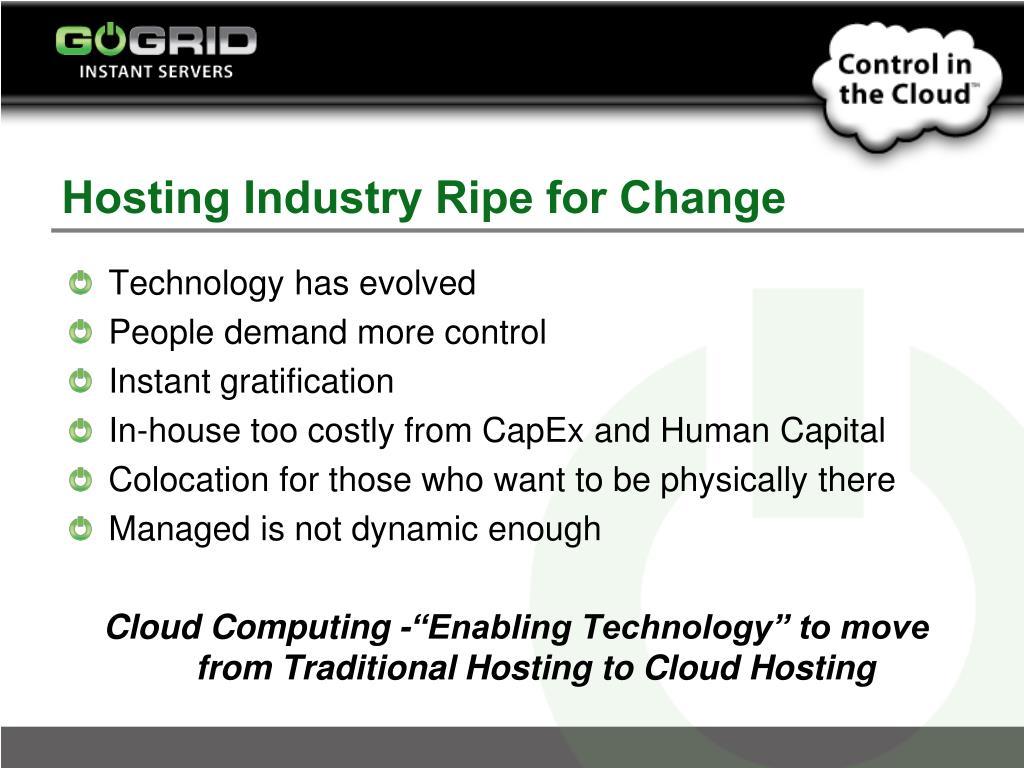 Hosting Industry Ripe for Change