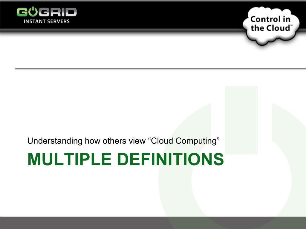 "Understanding how others view ""Cloud Computing"""