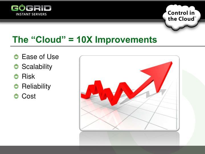 The cloud 10x improvements