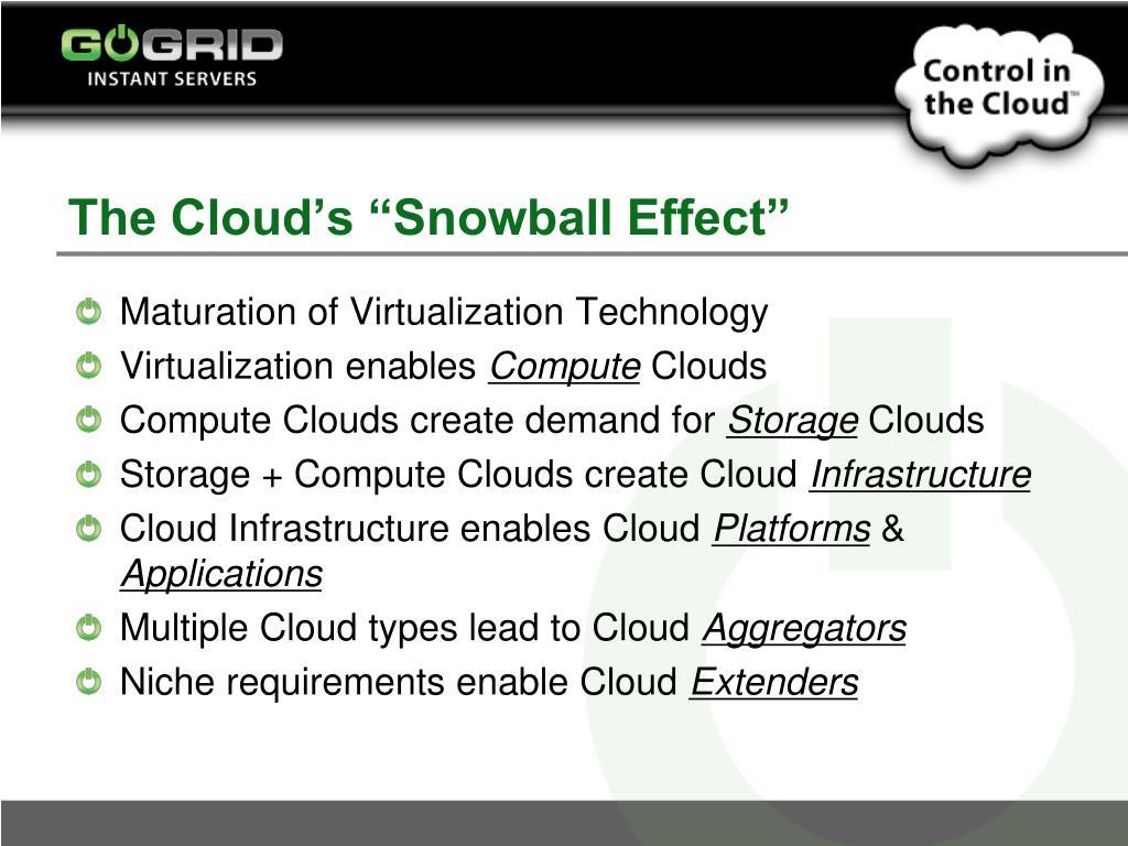 "The Cloud's ""Snowball Effect"""