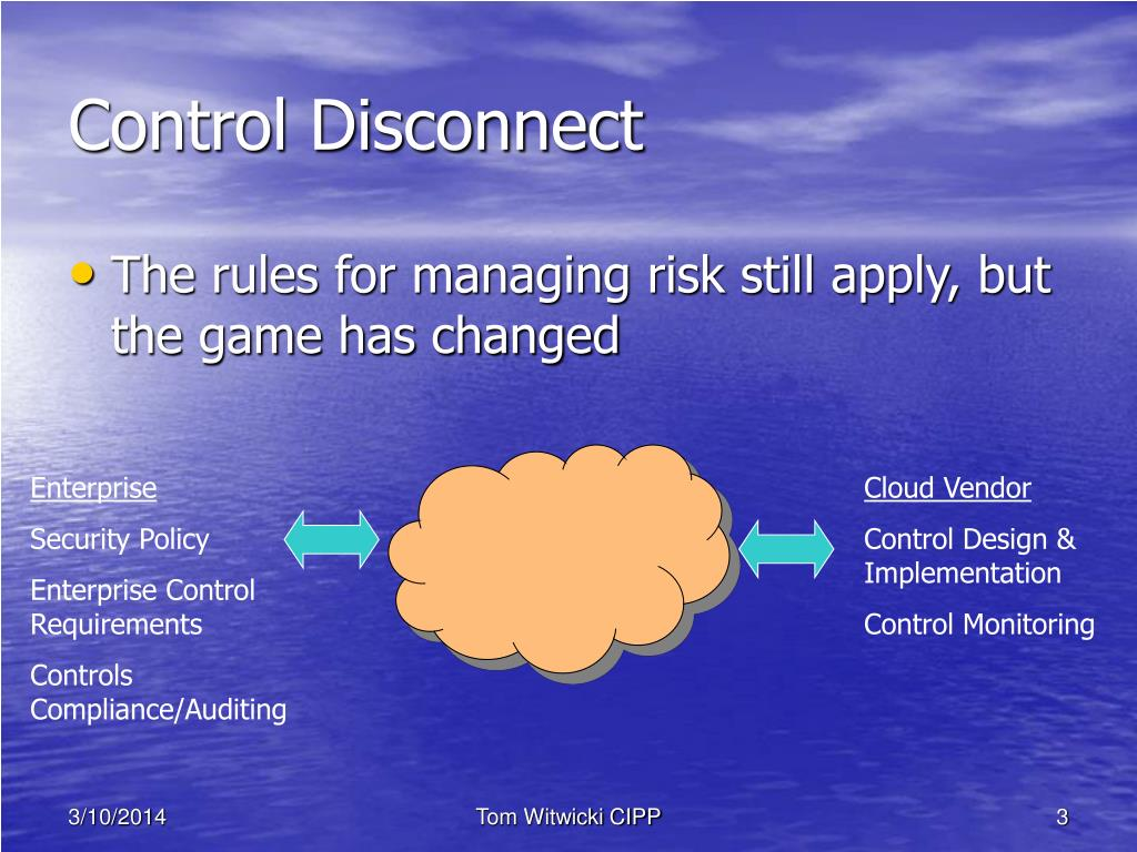 Control Disconnect