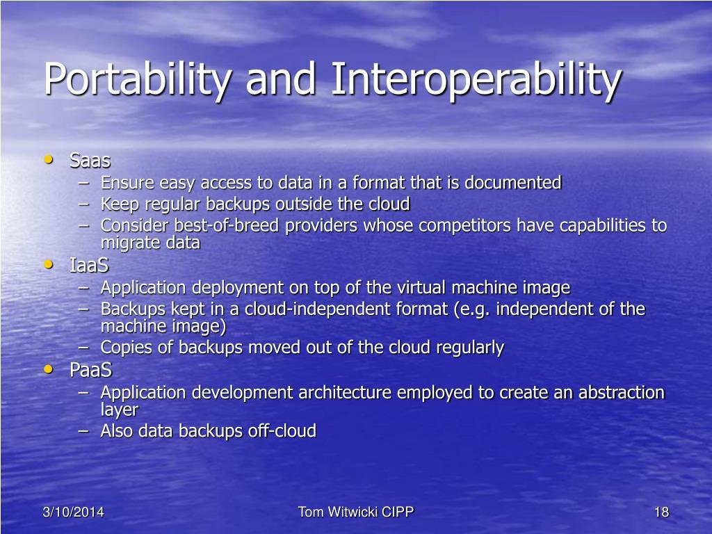 Portability and Interoperability