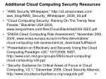 additional cloud computing security resources