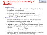 speedup analysis of the fast top k algorithm