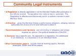 community legal instruments