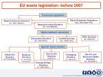 eu waste legislation before 2007