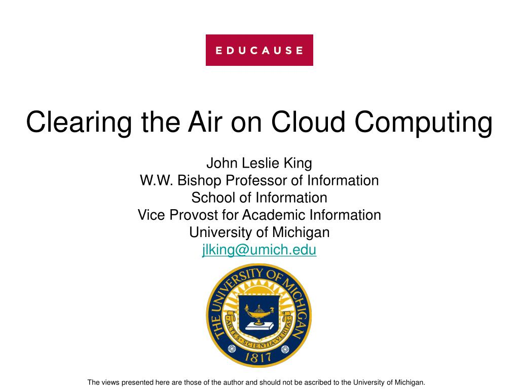 Clearing the Air on Cloud Computing