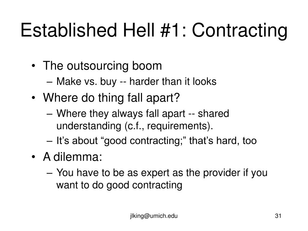 Established Hell #1: Contracting