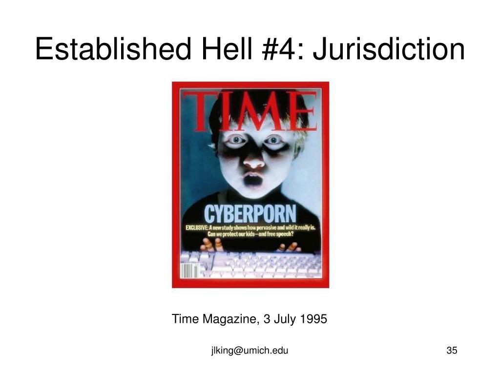 Established Hell #4: Jurisdiction